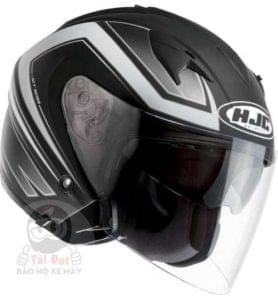 3/4 hjc helmet with inbuilt sun-visor with a dot approved rating
