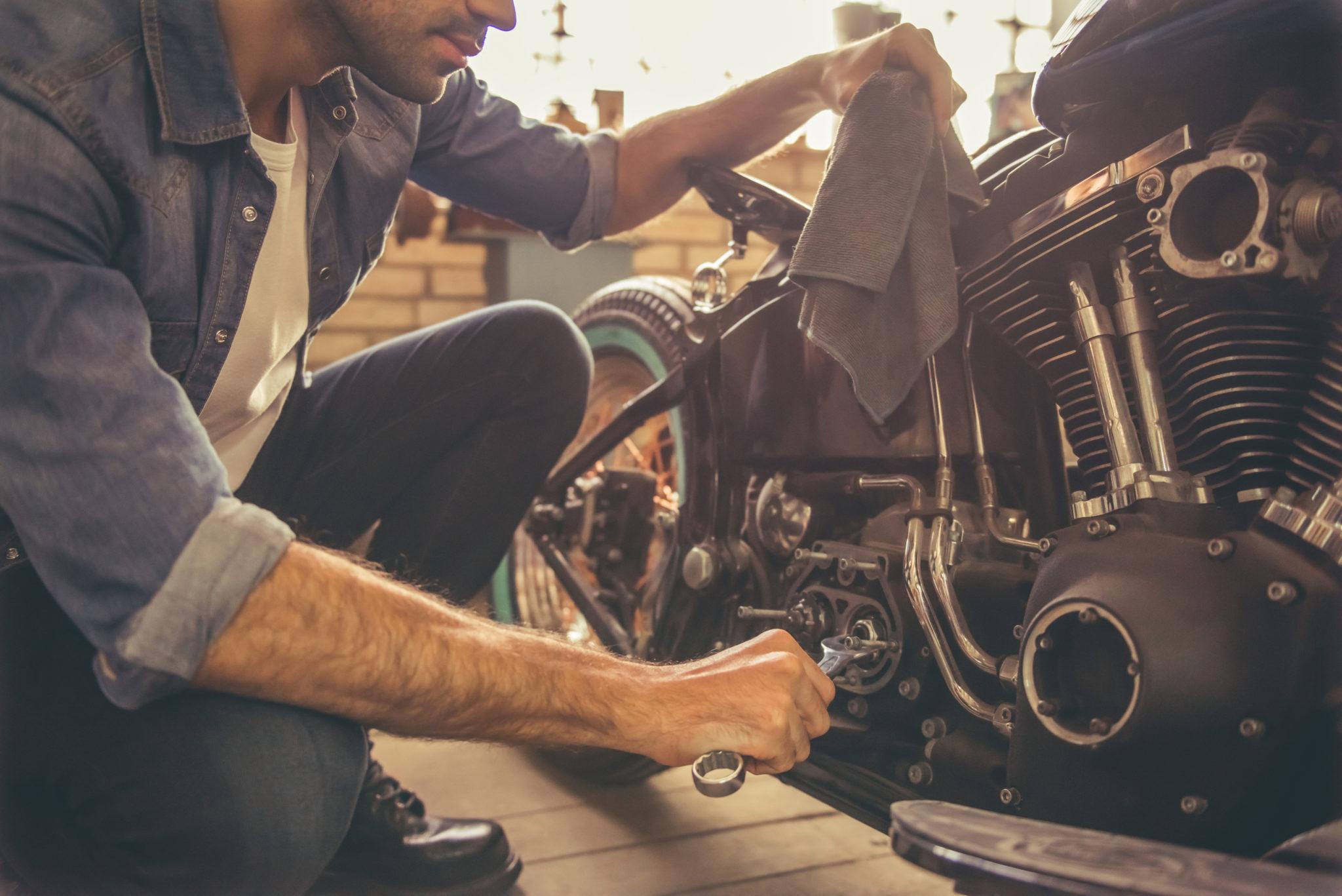 motorbike maintenance regularly